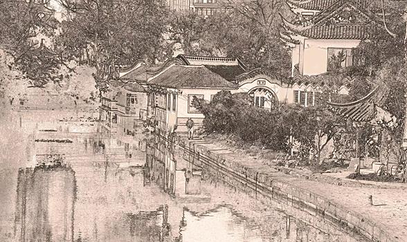 素描古城-冶春